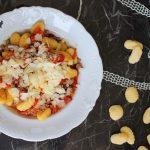 Gnocchi senza glutine con zampina e pomodorini