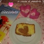 Plumcake con cuore al cioccolato in crosta di mandorle senza glutine (e come mettere un cuore nella  vostra torta)