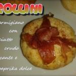 Frollini al parmigiano con prosciutto crudo croccante e paprika dolce (con e senza glutine)