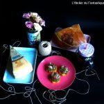 Aperitivo: sgagliozze con crema di funghi, San Daniele Dop e Montasio
